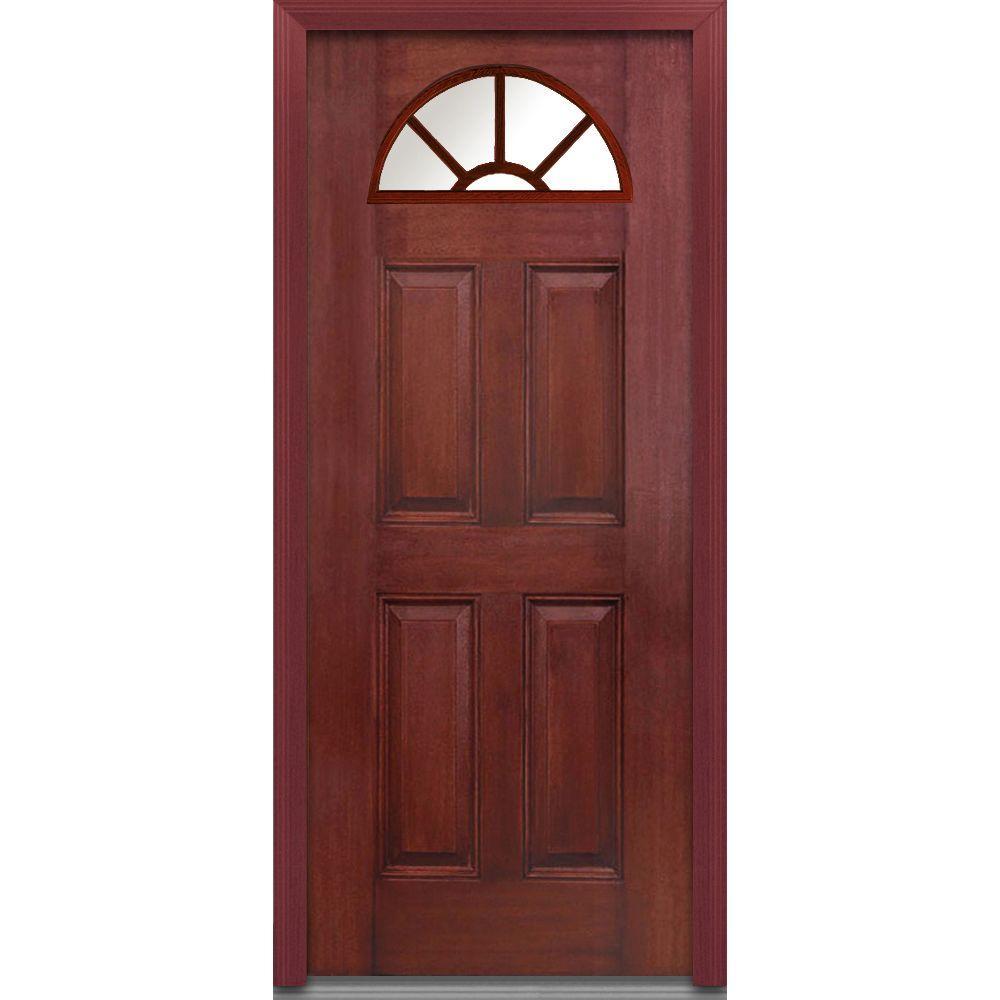 Mmi Door 36 In X 80 In Left Hand Inswing 14 Lite Clear 4 Panel