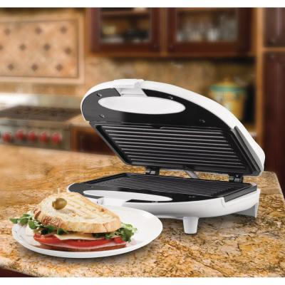 Brentwood Appliances-White Nonstick Panini Press and Sandwich Maker