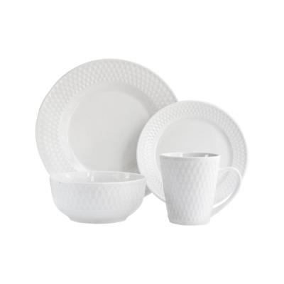 16-Piece White Juliette Dinnerware Set