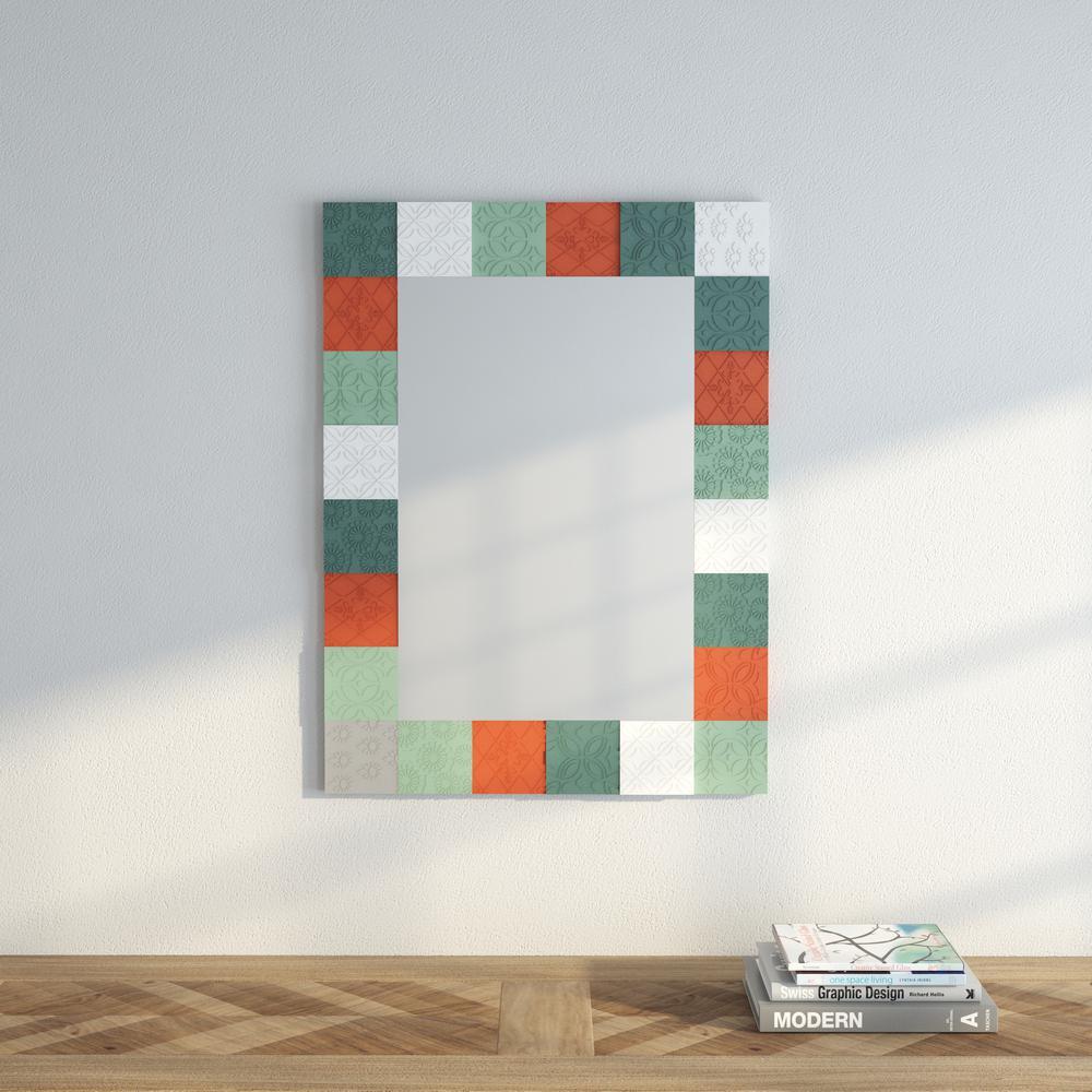 Tarek 40.5 in. H x 29.75 in. W Multicolor Framed Mirror