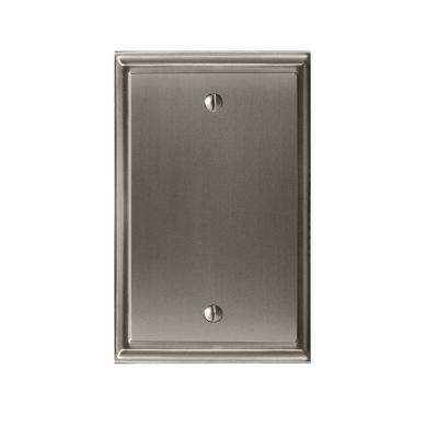 Mulholland Blank Wall Plate, Satin Nickel