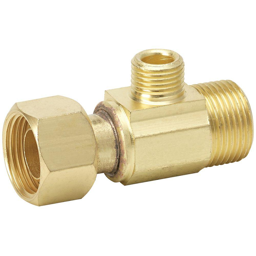 Pack of 5 LTWFITTING Brass 3//8 OD x 3//8 OD x 1//4 Male NPT Compression Branch Tee Fitting