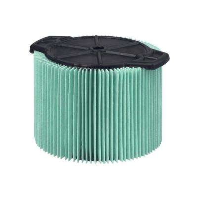 5-Layer Allergen Pleated Paper Filter for 3.0 gal. to 4.5 gal. RIDGID Wet Dry Vacs