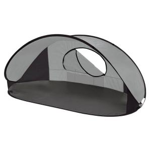 Picnic Time Manta Sun Shelter in Silver Grey and Black by Picnic Time