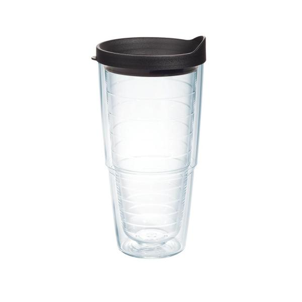 24 Oz Clear Tumbler With Lid