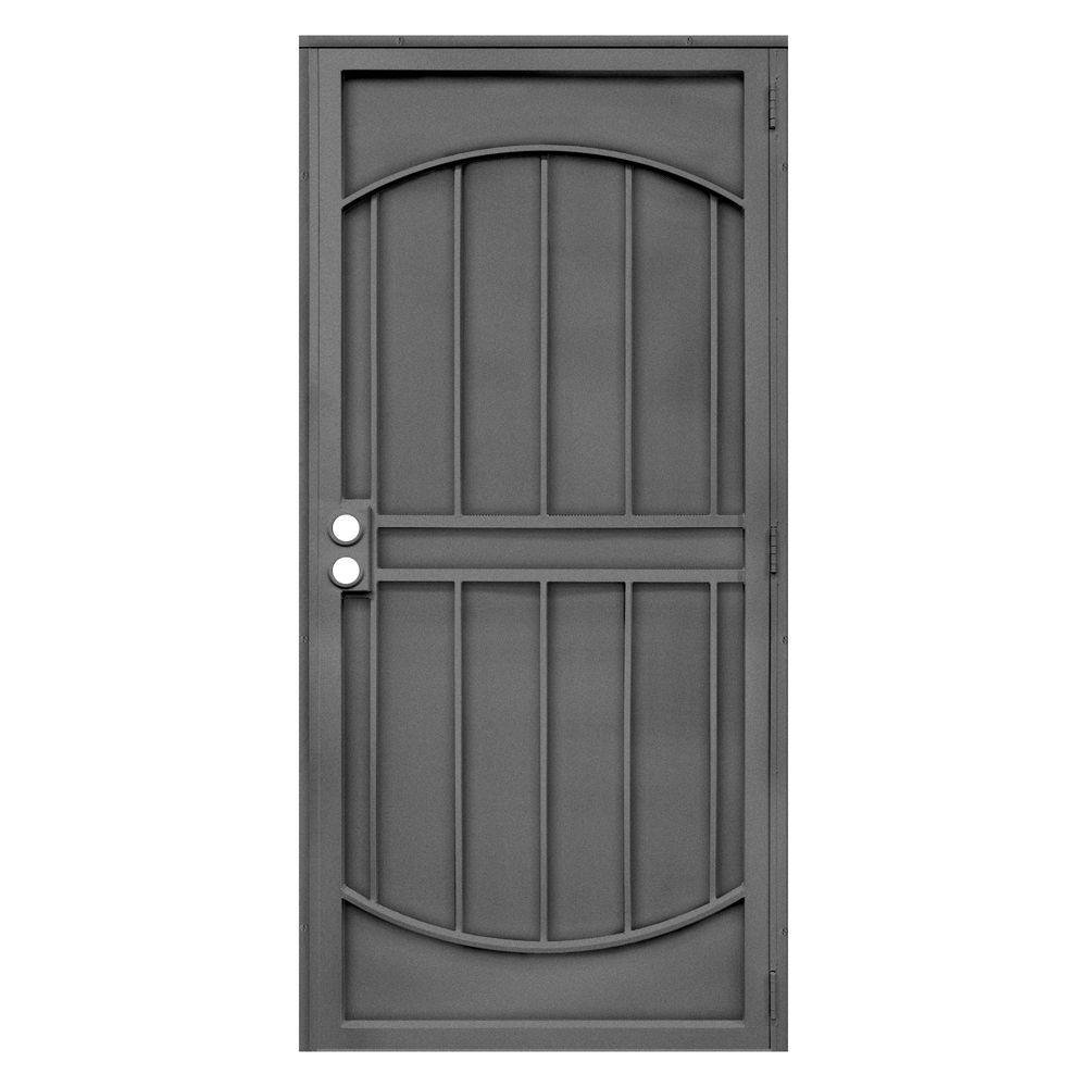 Unique Home Designs 32 in. x 80 in. Arcada Silverado Surface Mount Outswing Steel Security Door with Expanded Metal Screen