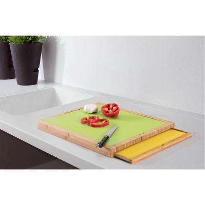 Laker 6-Piece Bamboo Cutting Board with 5-Plastic Mats