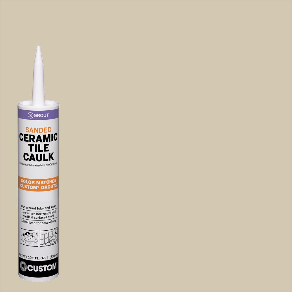 Custom Building Products Polyblend #382 Bone 10.5 oz. Sanded Ceramic Tile Caulk