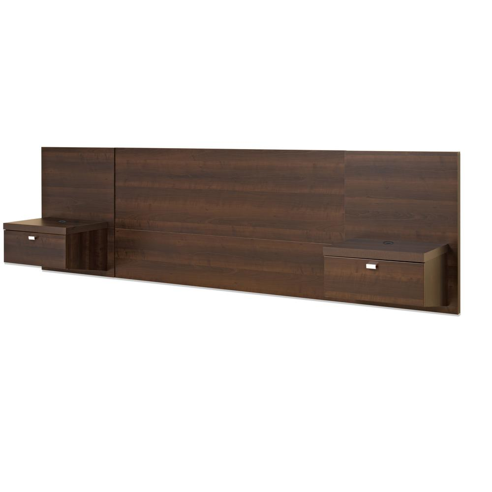 Prepac bedroom set series 9 internal drawer brown espresso - Espresso brown bedroom furniture ...