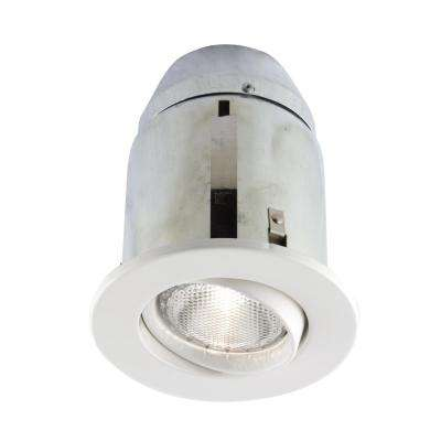 900 Series 5 in. White Recessed Halogen Light Fixture Kit