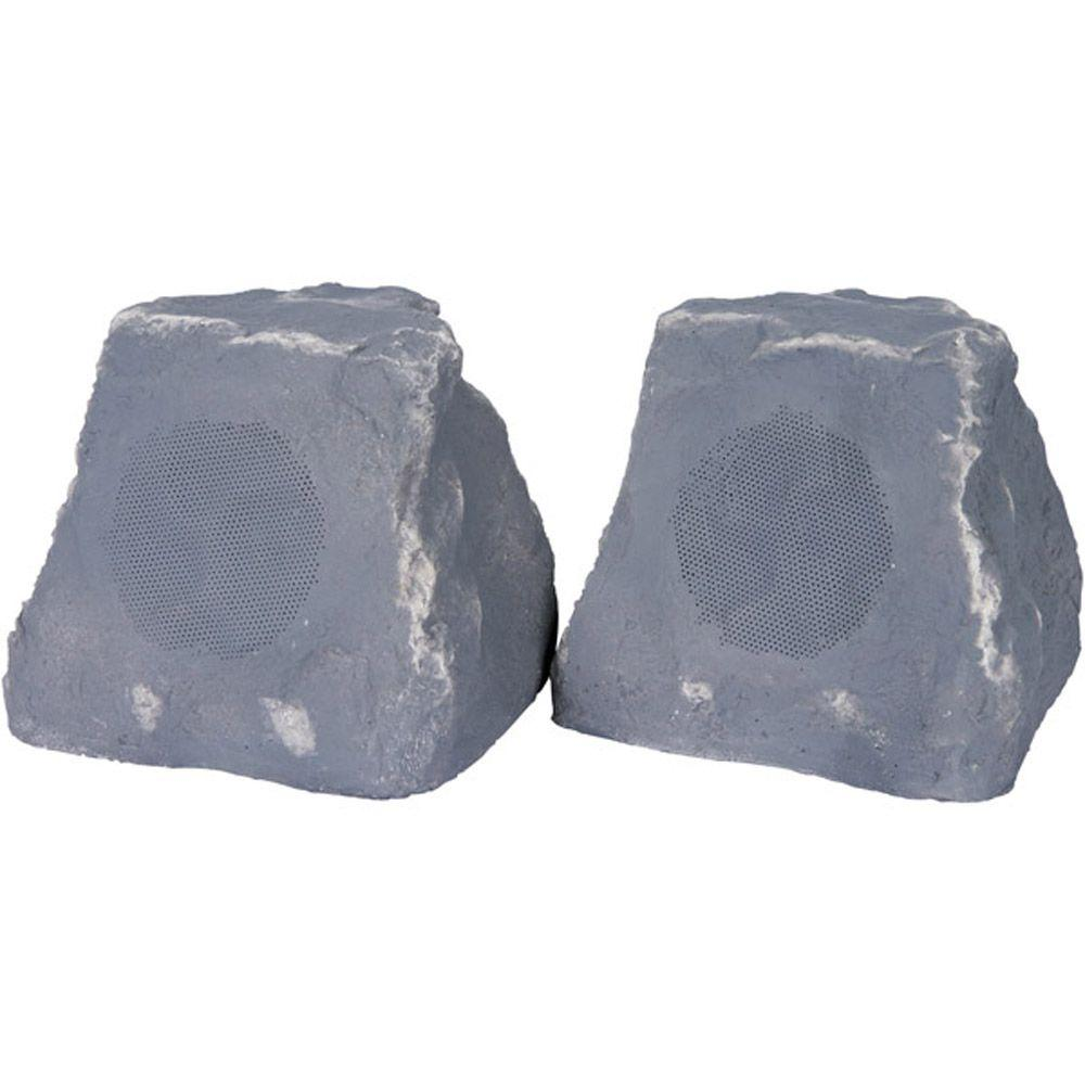 TIC 5-Watt Wireless Outdoor Rock Speaker - Slate