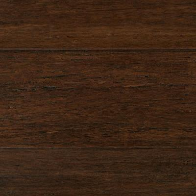 Wire Brushed Strand Woven Cocoa Bean 3/8 in. T x 5-1/5 in. W x 36.02 in. L Engineered Click Bamboo Flooring
