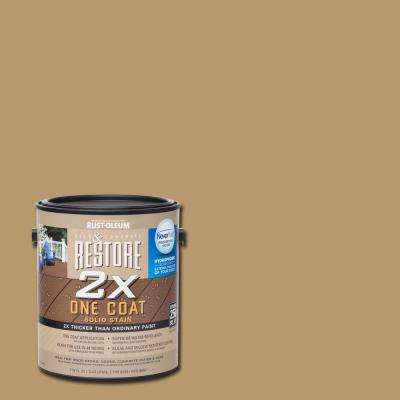 1 gal. 2X Sandstone Solid Deck Stain with NeverWet
