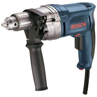 8 Amp Corded 1/2 in. High Speed Variable Speed Drill/Driver with Keyed Chuck and Auxiliary Handle