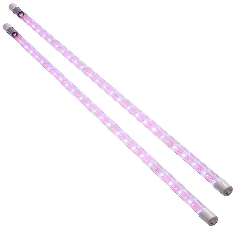 15-Watt 4 ft. White Integrated LED Grow Light Tube 120-277-Volt 50/60Hz 1800 Lumens 5000K Daylight  650mm 450mm (2-Pack)