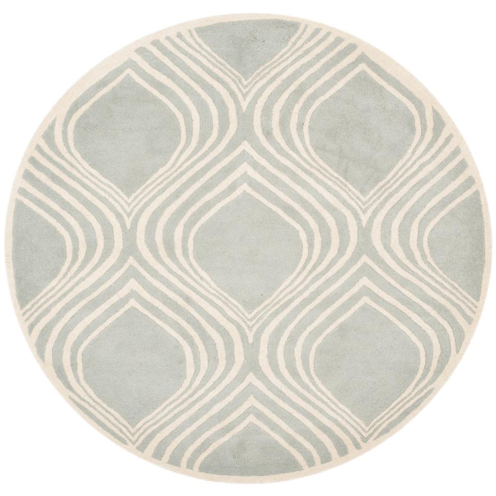 Chatham Gray/Ivory 5 Ft. X 5 Ft. Round Area Rug
