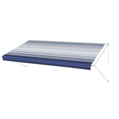 15 ft. RV Retractable Awning (96 in. Projection) in Blue Stripe