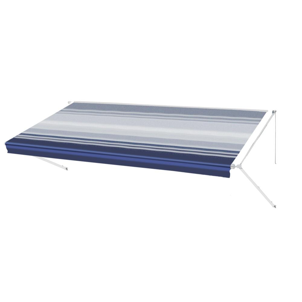 new concept 63a0d 968d3 ALEKO 15 ft. RV Retractable Awning (96 in. Projection) in Blue Stripe