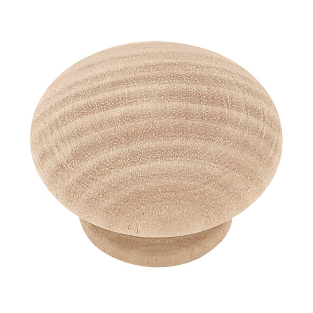 Liberty Classic 1-1/2 in. (38 mm) Birch Wood Round Cabinet Knob (10-Pack)