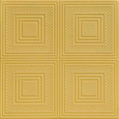 Nested Squares 1.6 ft. x 1.6 ft. Foam Glue-up Ceiling Tile in Concord Ivory