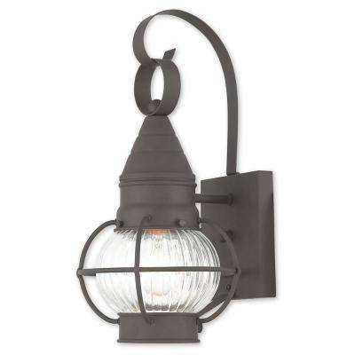 Newburyport 1-Light Bronze Outdoor Wall Mount Lantern