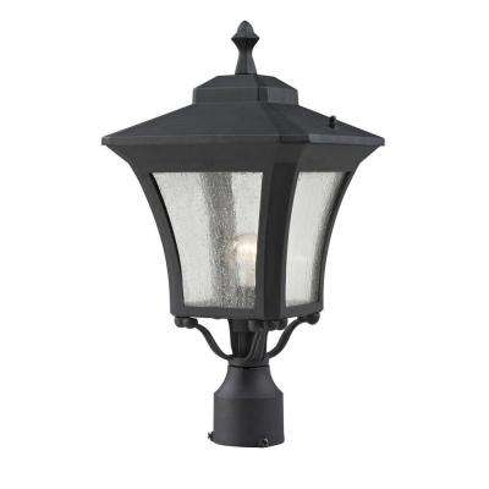 Lawrence 1-Light Outdoor Sand Black Incandescent Post Light