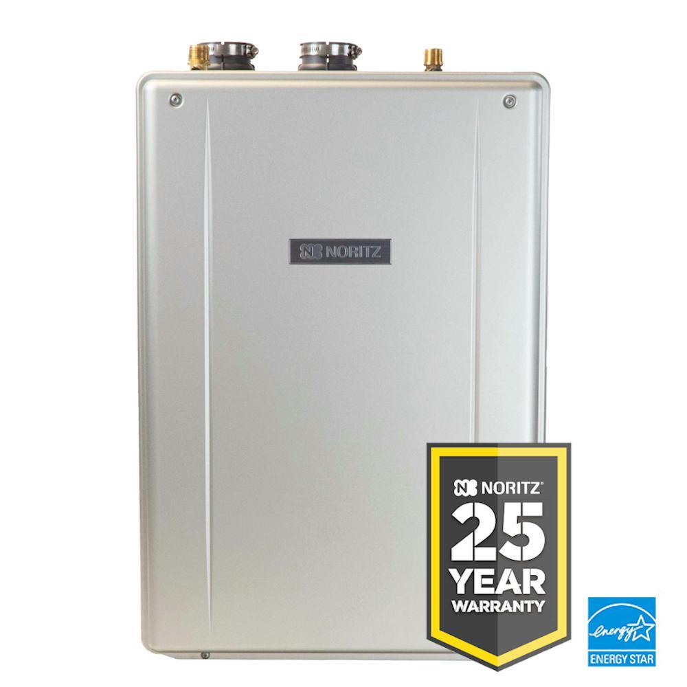 NORITZ EZ Series 11.1 GPM Residential Liquid Propane High Efficiency Indoor/Outdoor Tankless Water Heater - 25 Year Warranty