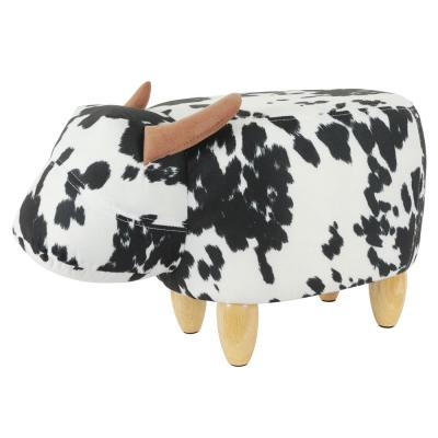 Cow Black and White Stool Bench