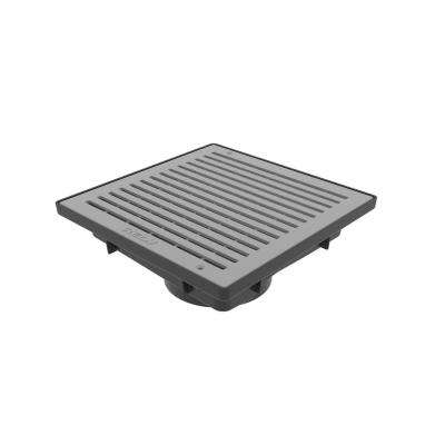 9 in. x 9 in. Vortex Catch Basin Complete with Grey Grate