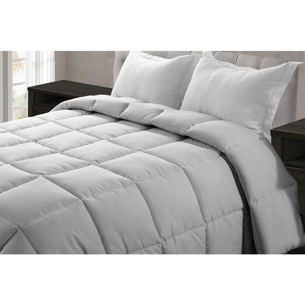 Jill Morgan Light Gray Microfiber Queen Comforter