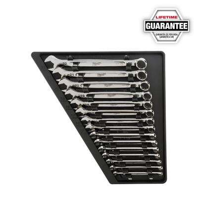 Combination Metric Wrench Mechanics Tool Set (15-Piece)