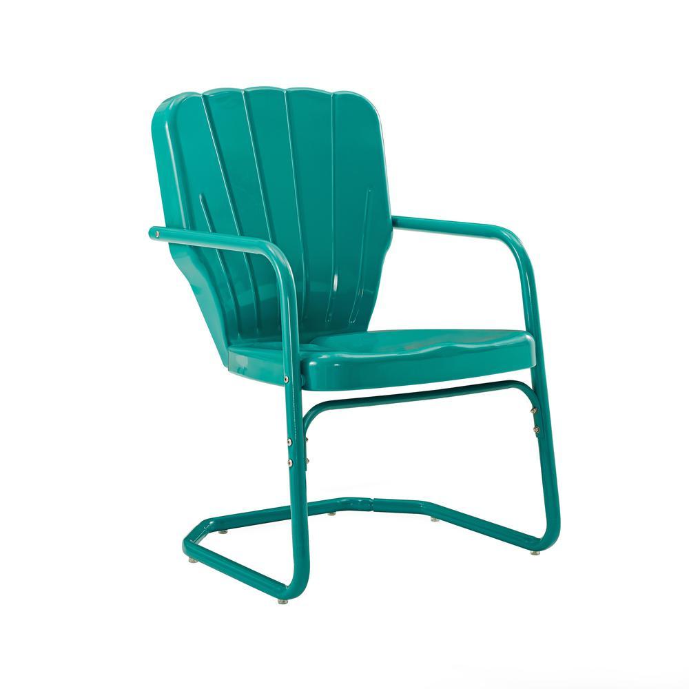 Ridgeland Turquoise Metal Outdoor Lounge Chair