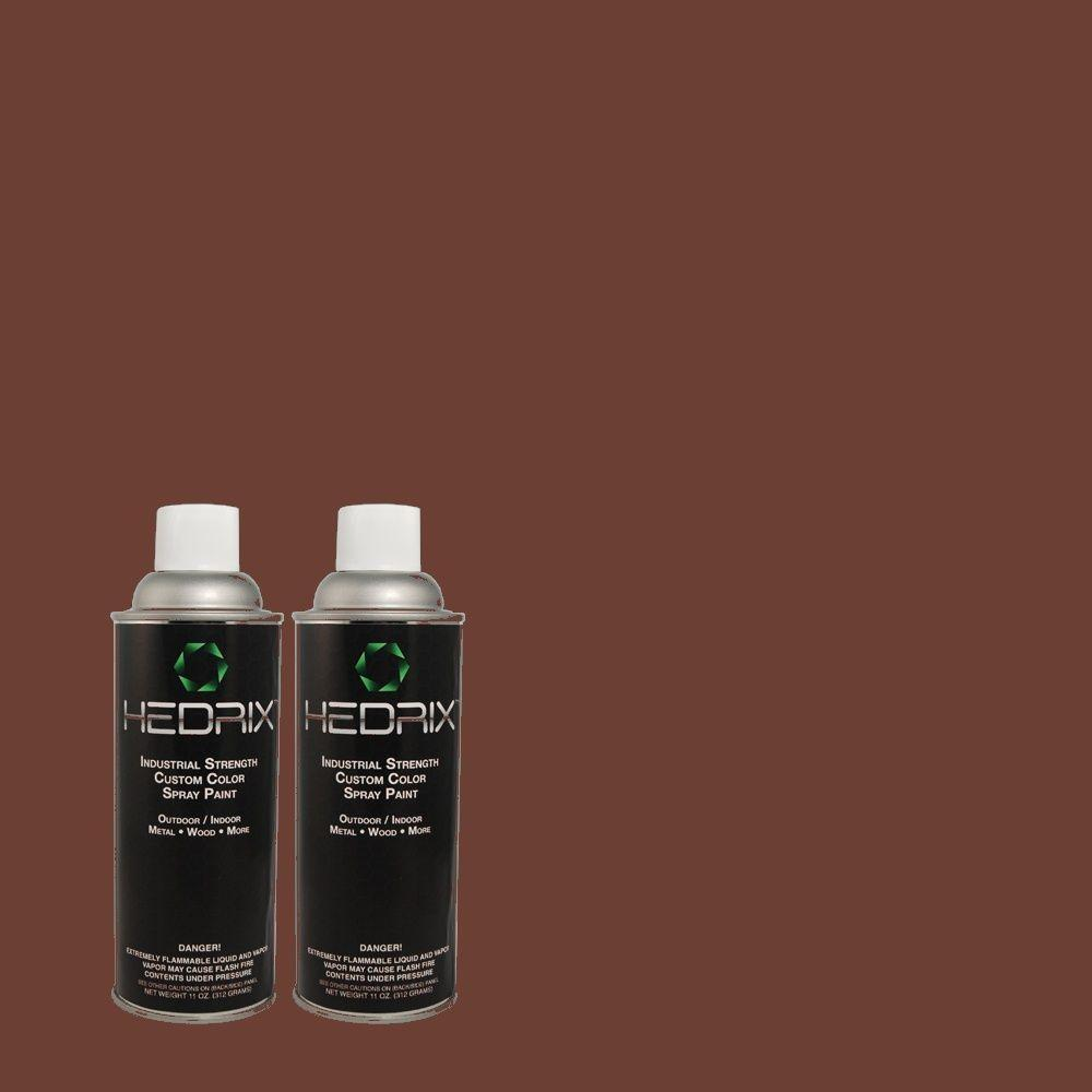 Hedrix 11 oz. Match of PPU1-2 Divine Wine Gloss Custom Spray Paint (2-Pack)
