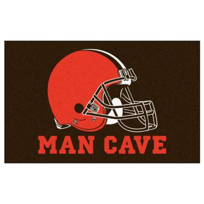 NFL Cleveland Browns Brown Man Cave 5 ft. x 8 ft. Indoor Area Rug