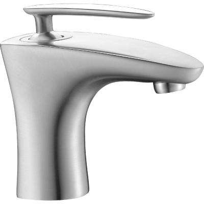 Tone Series Single Hole Single-Handle Low-Arc Bathroom Faucet in Brushed Nickel