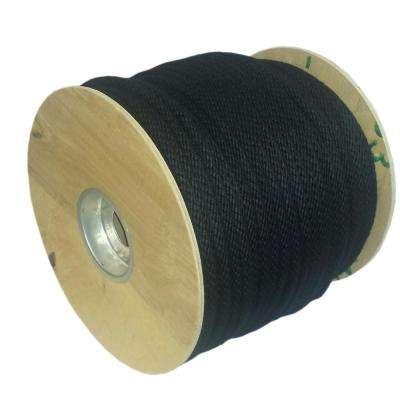 #12  3/8 in. Black Sash Cord Theater Cord 600 ft.
