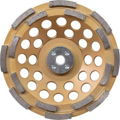 7 in. Double Row Anti-Vibration Diamond Cup Wheel