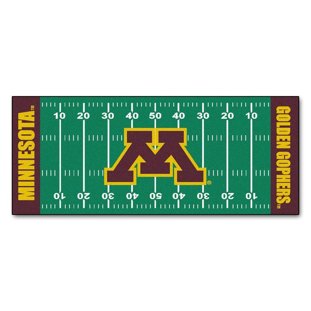 University of Minnesota 3 ft. x 6 ft. Football Field Rug Runner Rug