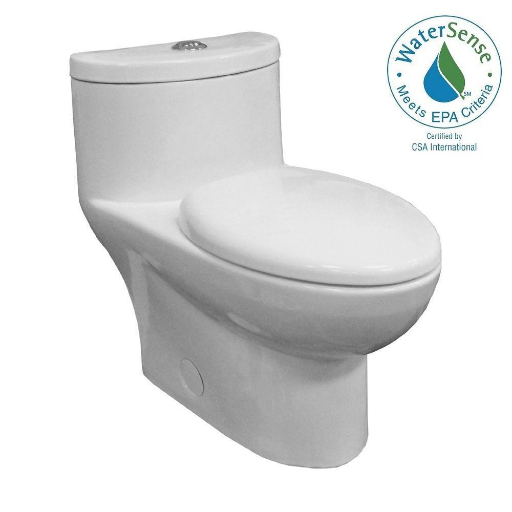 Incroyable Tofino Complete 1 Piece 1.1 GPF Dual Flush Elongated Toilet In White