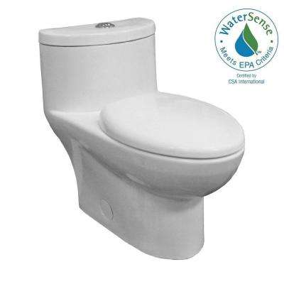 Tofino Complete 1-piece 1.1 GPF Dual Flush Elongated Toilet in White