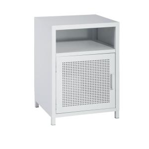 White Mesh Metal Cabinet Fashion Storage Cabinet for Bedroom Living Room