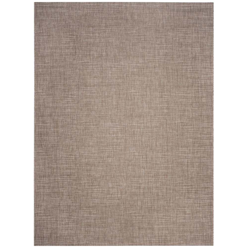 Courtyard Light Brown 8 ft. x 11 ft. Indoor/Outdoor Area Rug