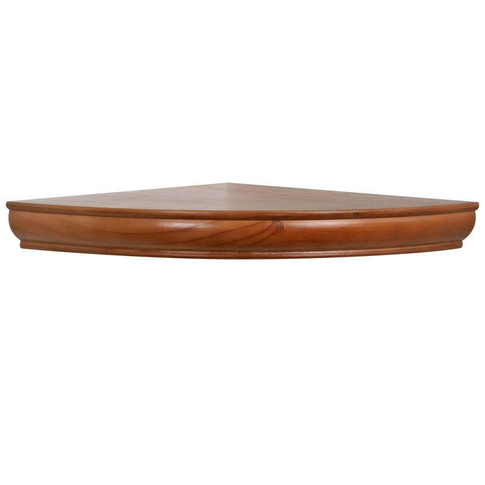 The Magellan Group 1-3/4 in. Honey Floating Corner Shelf (Price Varies By Size)