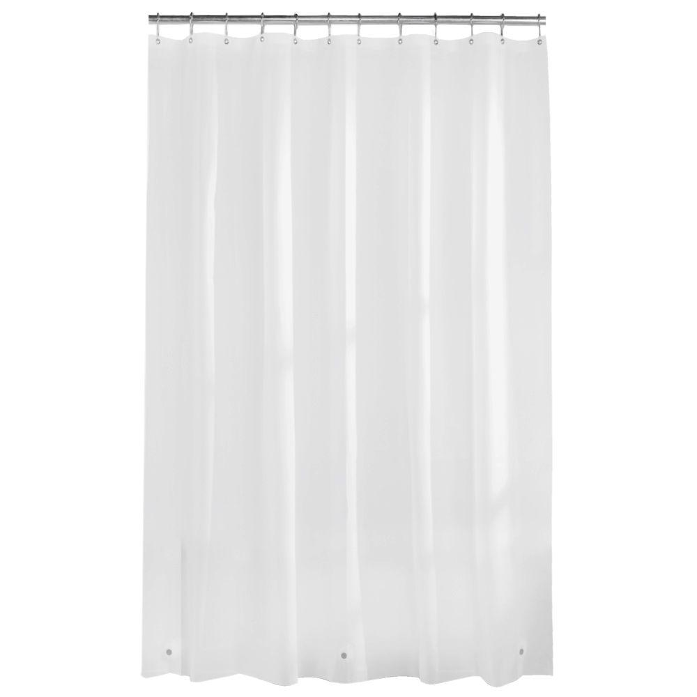 PEVA Premium 8 Gauge 72 In Shower Curtain Liner White