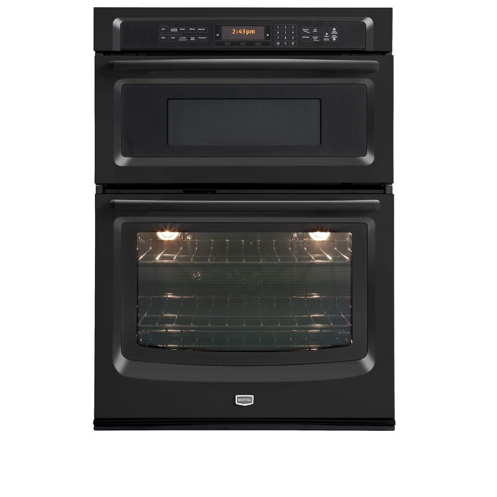 Maytag 30 in. Electric Convection Wall Oven with Built-In Microwave in Black