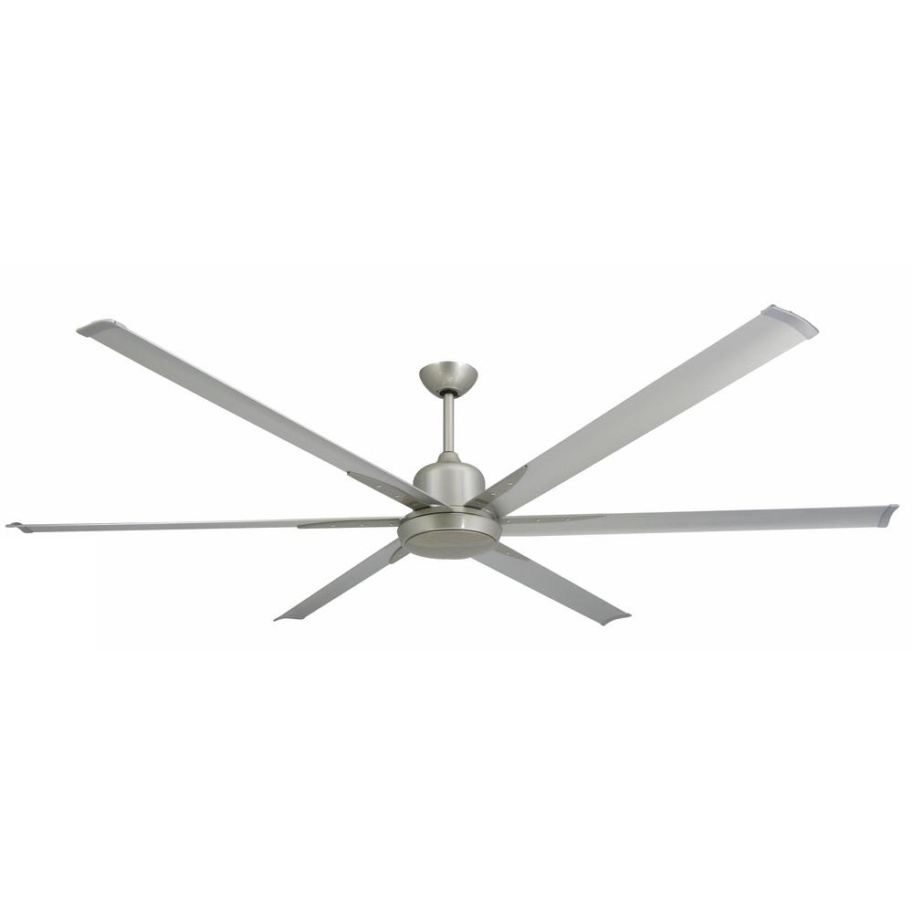 TroposAir Titan 84 in. Indoor/Outdoor Brushed Nickel Ceiling Fan and Light