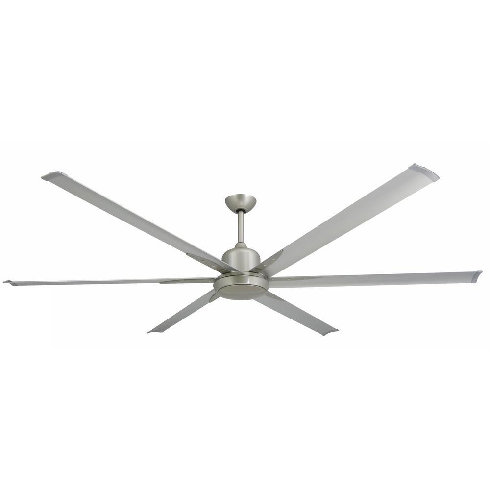 TroposAir Titan 84 in. Indoor/Outdoor Brushed Nickel Ceiling Fan and Light
