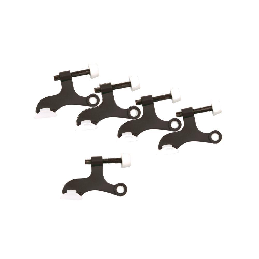 Oil Rubbed Bronze Hinge Pin Door Stop for Hollow Core Doors Value Pack (5 per Pack)