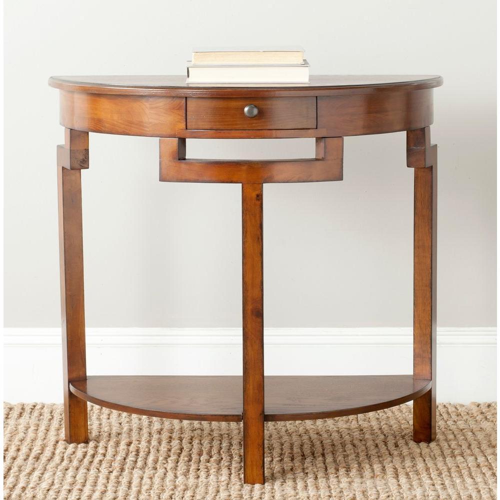 Liana Filbert Brown Storage Console Table