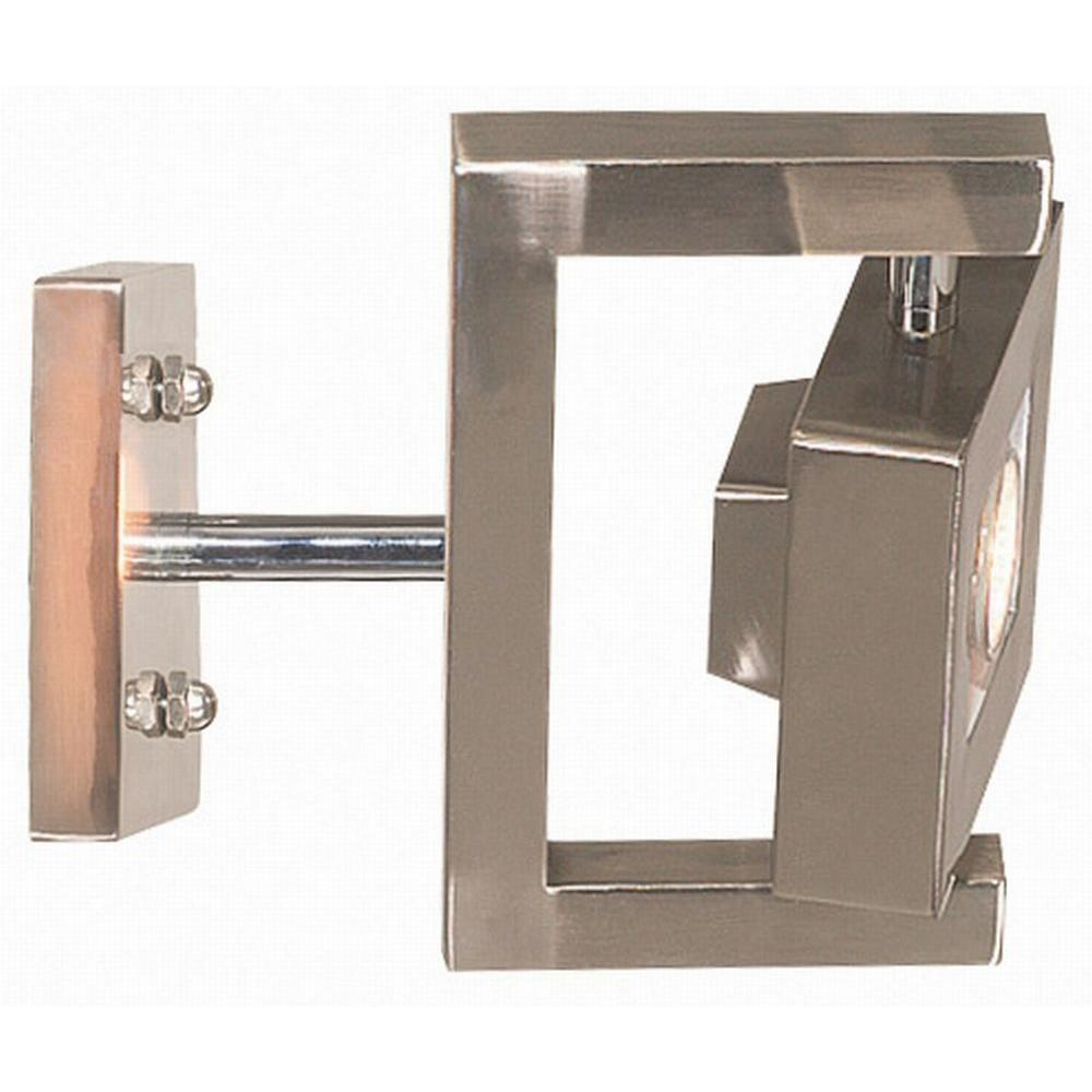 Kenroy Home Geometry 1-Light Brushed Steel Wall Sconce